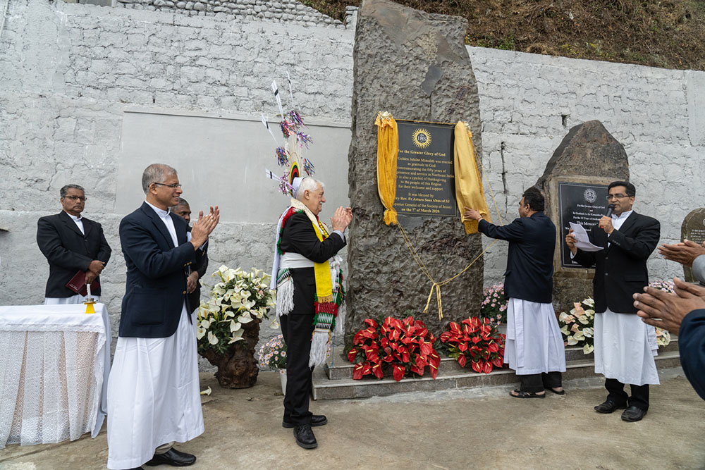 Unveiling of the 50th Anniversary monument