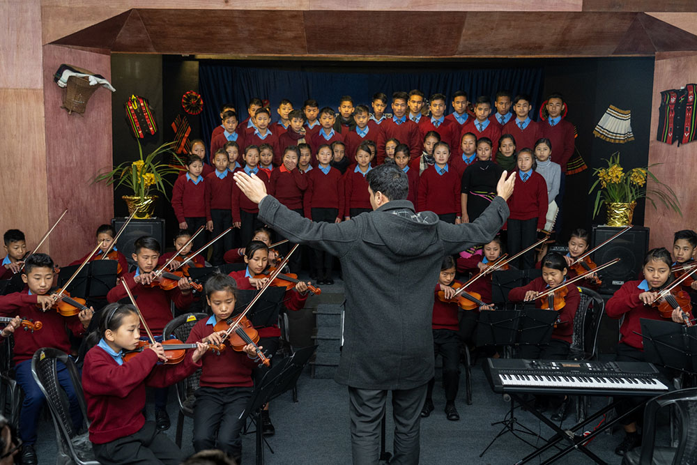 Gandhi Ashram – The Concert – Choir and orchestra