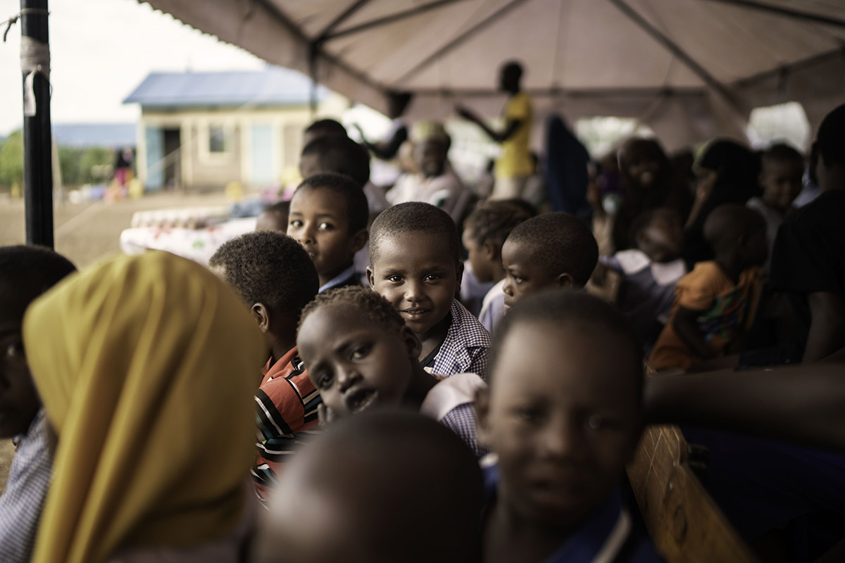 Students from JRS Special Need's unit in centre 4 is taking part in a small event in their compound in  Kakuma refugee settlement. ©Fredrik Lerneryd